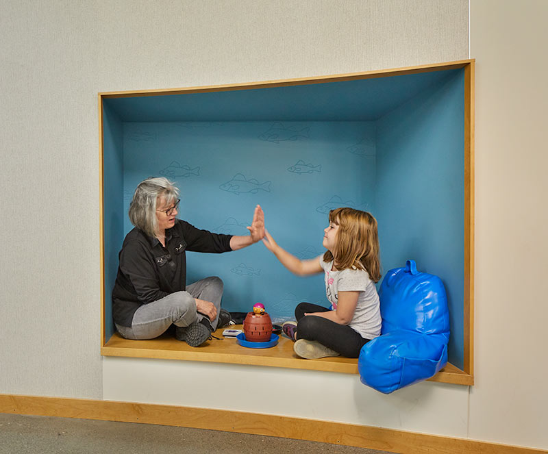 nook at Lake Stevens Early Learning Center in Washington State, link to project page