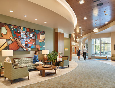 Summit at Rockwood South Hill Lobby, Link to article: Summit at Rockwood South Hill Receives Three Design Awards