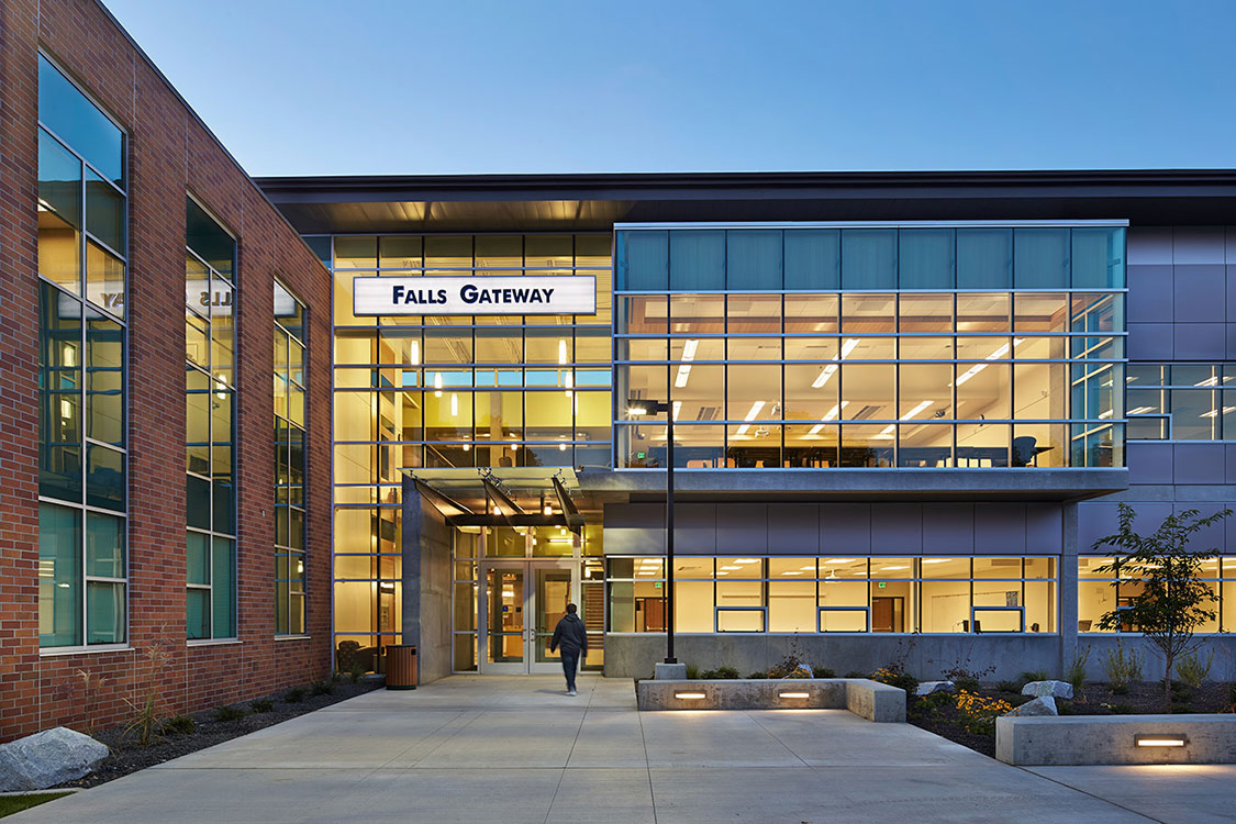 Falls gateway building spokane falls community college for Architect washington state