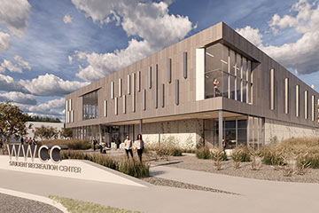 Walla Walla Community College Student Recreation Center rendering, Link to On the Boards Projects