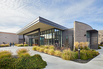 Walla Walla Community College Workforce Center walkway, Link to Higher Education Projects