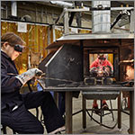 students welding, link to larger image